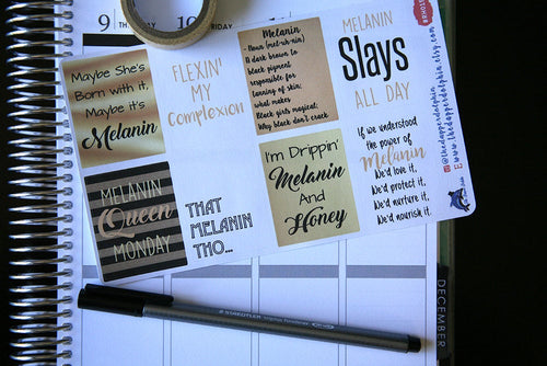 Maybe it's Melanin Full Box Planner Sticker Set