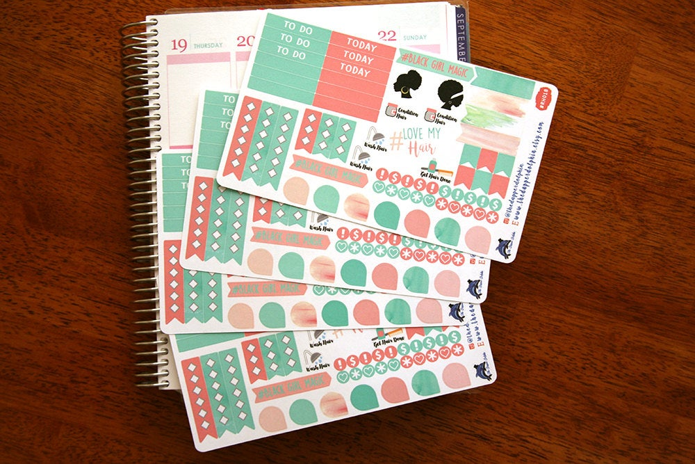 Natural Hair Love Functional Planner Sticker Sheet
