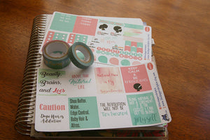 Natural Hair Love Full Box Planner Sticker Set