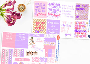 Body Positivity and Body Love Full Box Planner Sticker Set