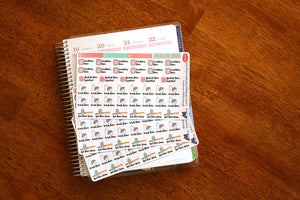 Natural Hair Take Care of Your Hair Functional Planner Sticker Sheet