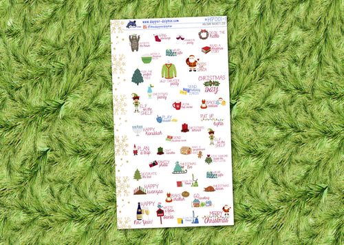 Christmas Bucket List Seasonal Personal Size Sticker Sheet