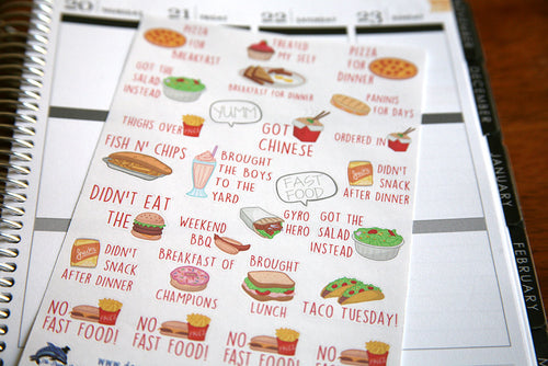 Sassy Meal Planning Sticker Sheet