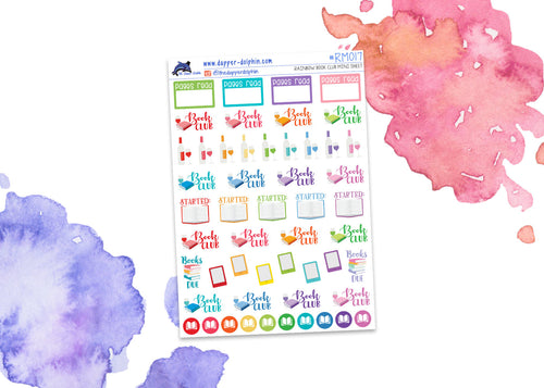 Book Club Mini Planner Stickers