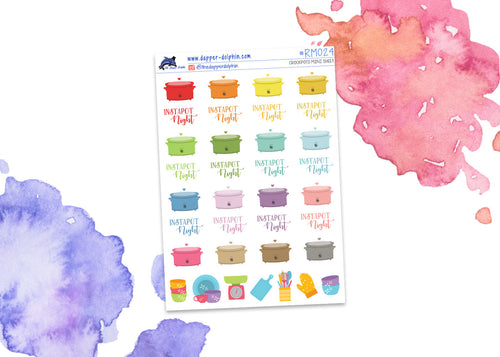 Crockpot and Instant Pot Mini Planner Stickers