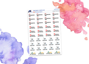 General Hair Care Mini Planner Stickers