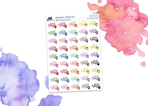 Gym Day Workout Mini Planner Stickers