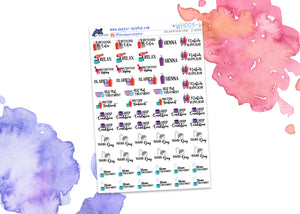 Relaxed Hair Care Full Sheet Planner Stickers