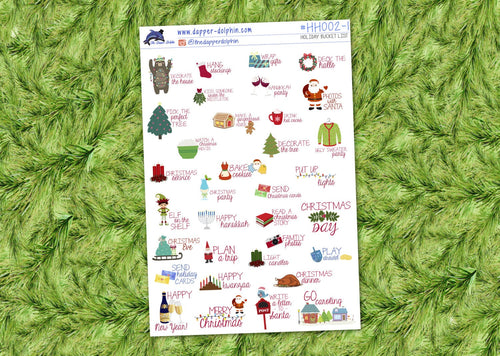 Christmas Bucket List Seasonal Sticker Sheet