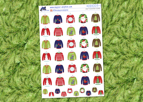 Ugly Christmas Sweater Winter Holiday Stickers