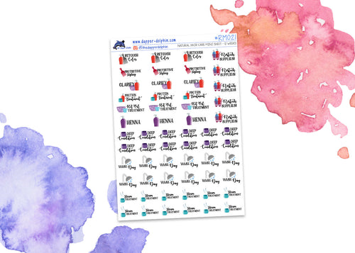 Natural Hair Care Mini Planner Stickers