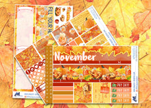 Load image into Gallery viewer, November Give Thanks Monthly Planner Sticker Kit for EC Planners