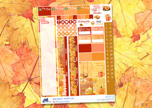 November Give Thanks Monthly Planner Sticker Kit for Mini Happy Planners