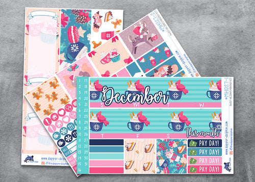 December Sweet Holidays Monthly Planner Sticker Kit