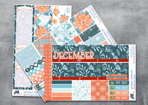 December Yuletide Greetings Monthly Planner Sticker Kit