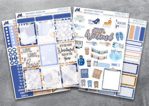 December Winter Full Planner Sticker Kit