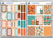Load image into Gallery viewer, Pumpkin Spice Latte Full Weekly Planner Sticker Kit for Standard Planners