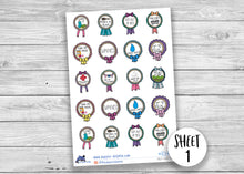 Load image into Gallery viewer, Mental Health Self Care Reward Sticker Sheet