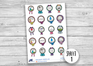 Mental Health Self Care Reward Sticker Sheet
