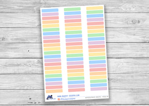 Light Multicolor Appointment Strip Stickers