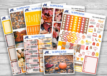 Load image into Gallery viewer, Fall Leaves Photo Full Weekly Planner Sticker Kit for Standard Planners