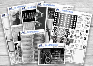 Neutral Simplicity Photo Full Weekly Planner Sticker Kit for Standard Planners