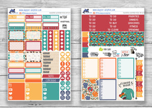 Sweater Weather Fall Weekly Planner Sticker Kit for Mini Happy Planner