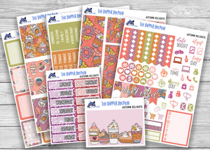 Autumn Delights Full Weekly Planner Sticker Kit for Standard Planners