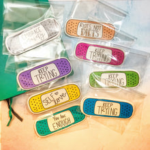 Load image into Gallery viewer, Mental Health Quote Bandaid Stickers Full Set