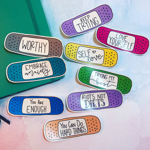 Mental Health Quote Bandaid Stickers
