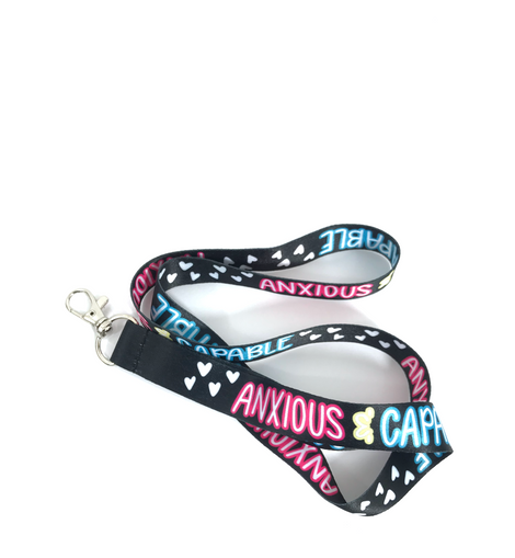 Anxious and Capable Mental Health Awareness Lanyard