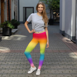 Rainbow Horizontal Gradient Straight Size Leggings