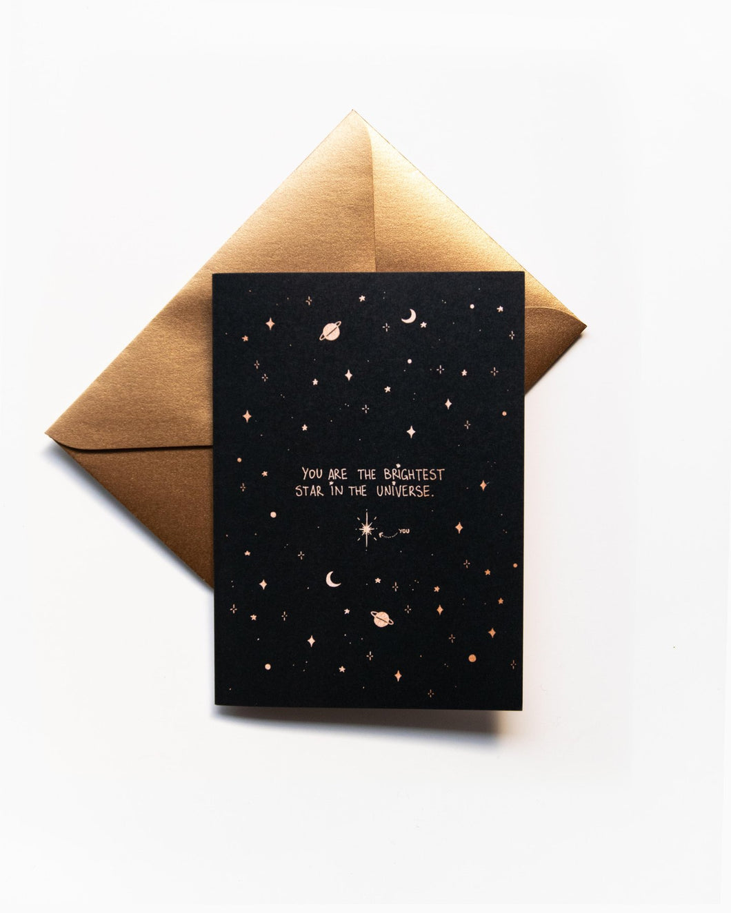 Dreamy Moons - Brightest Star Greeting Card