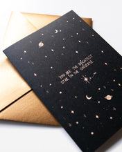 Load image into Gallery viewer, Dreamy Moons - Brightest Star Greeting Card