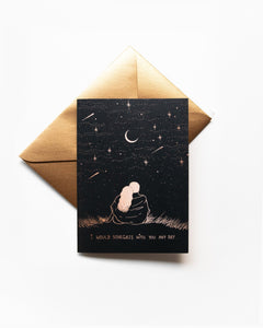 Dreamy Moons - Stargazing Greeting Card