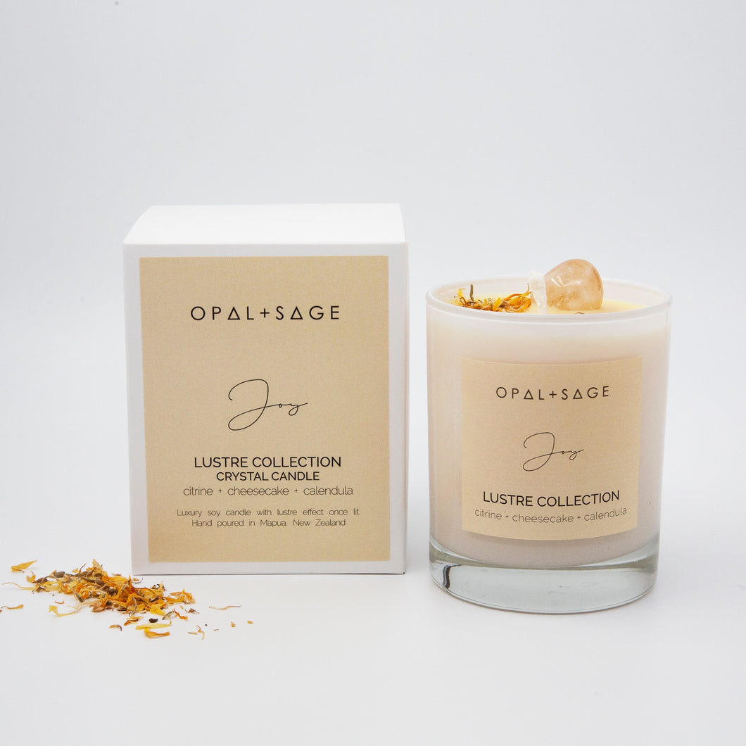 Lustre Collection Crystal Candle - Joy