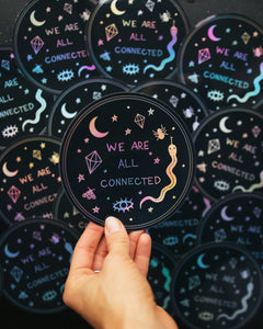 Dreamy Moons - We Are All Connected Sticker