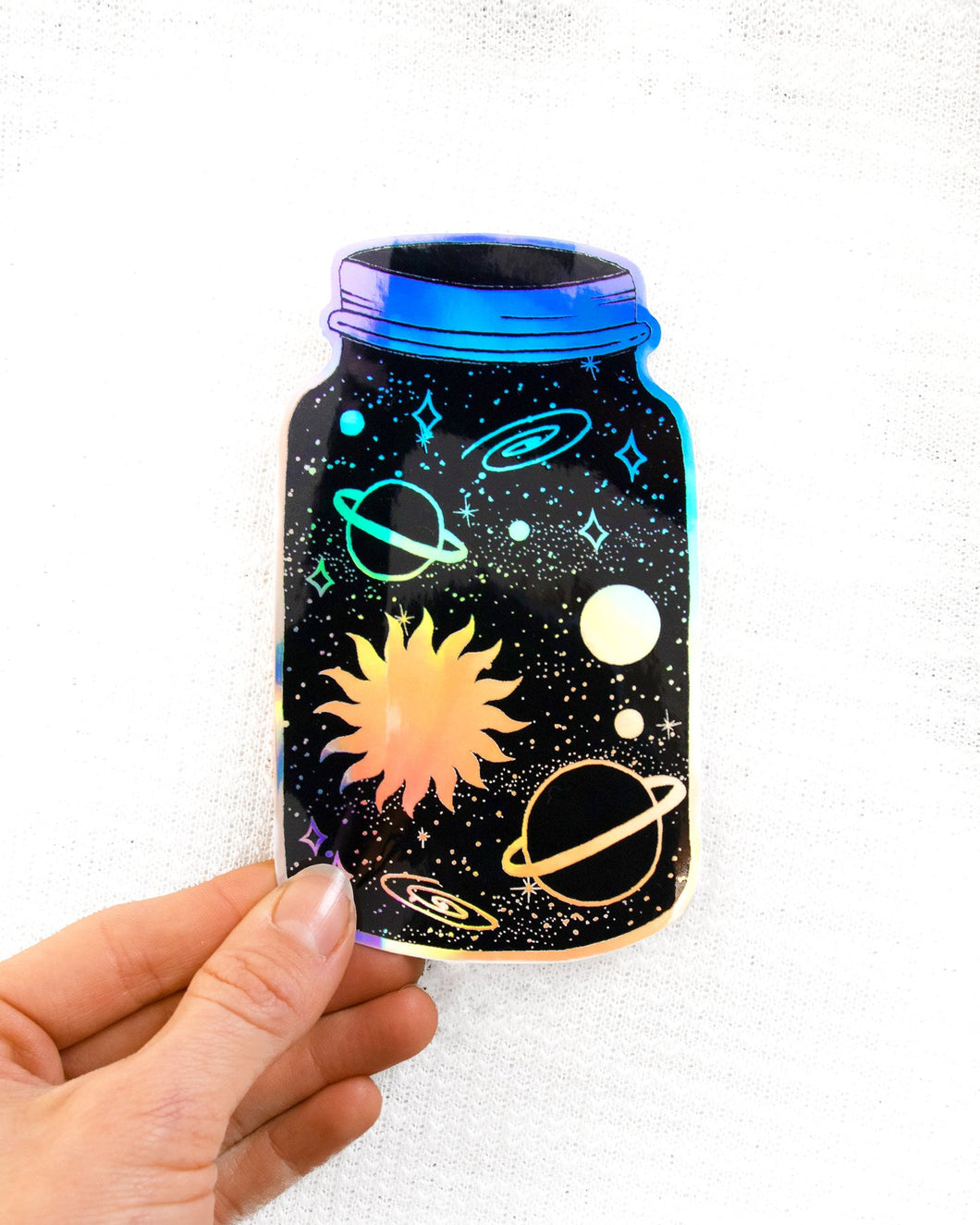 Dreamy Moons - Universe In A Jar Holo Sticker