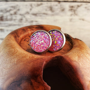 Pink Druzy Post Earrings - Jax Allen Designs