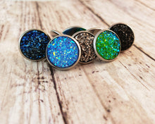 Load image into Gallery viewer, Aqua Druzy Post Earrings - Jax Allen Designs