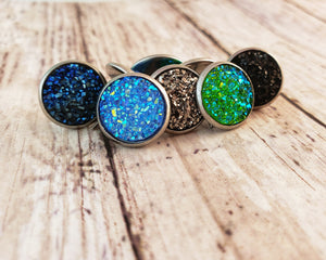 Aqua Druzy Post Earrings - Jax Allen Designs