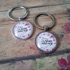 I Am With You Always Keychain - Jax Allen Designs