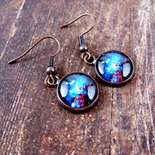 Load image into Gallery viewer, Space Sparkle Post Earrings - Jax Allen Designs