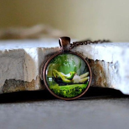 Lazy Frog Pendant Necklace - Jax Allen Designs