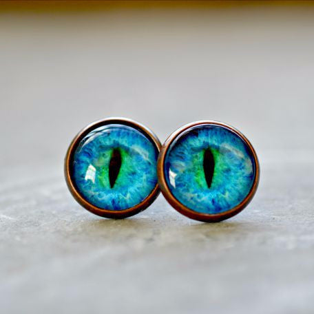 Cat Eye Post Earrings - Jax Allen Designs