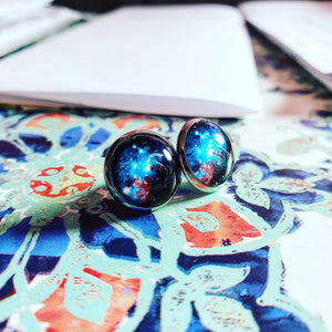Space Sparkle Post Earrings - Jax Allen Designs
