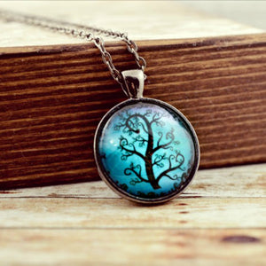 Black Night Tree Necklace - Jax Allen Designs
