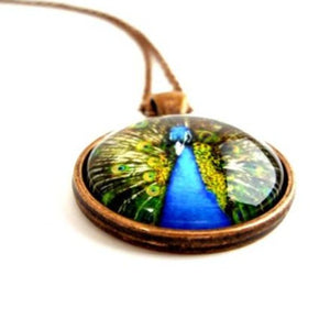 Blue Peacock Pendant Necklace - Jax Allen Designs