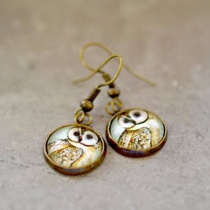Owl Dangle Earrings - Jax Allen Designs