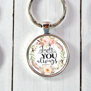 Bible Verse Necklace or Keychain - Jax Allen Designs
